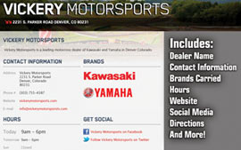 Detailed Dealer Page on Racer X Online